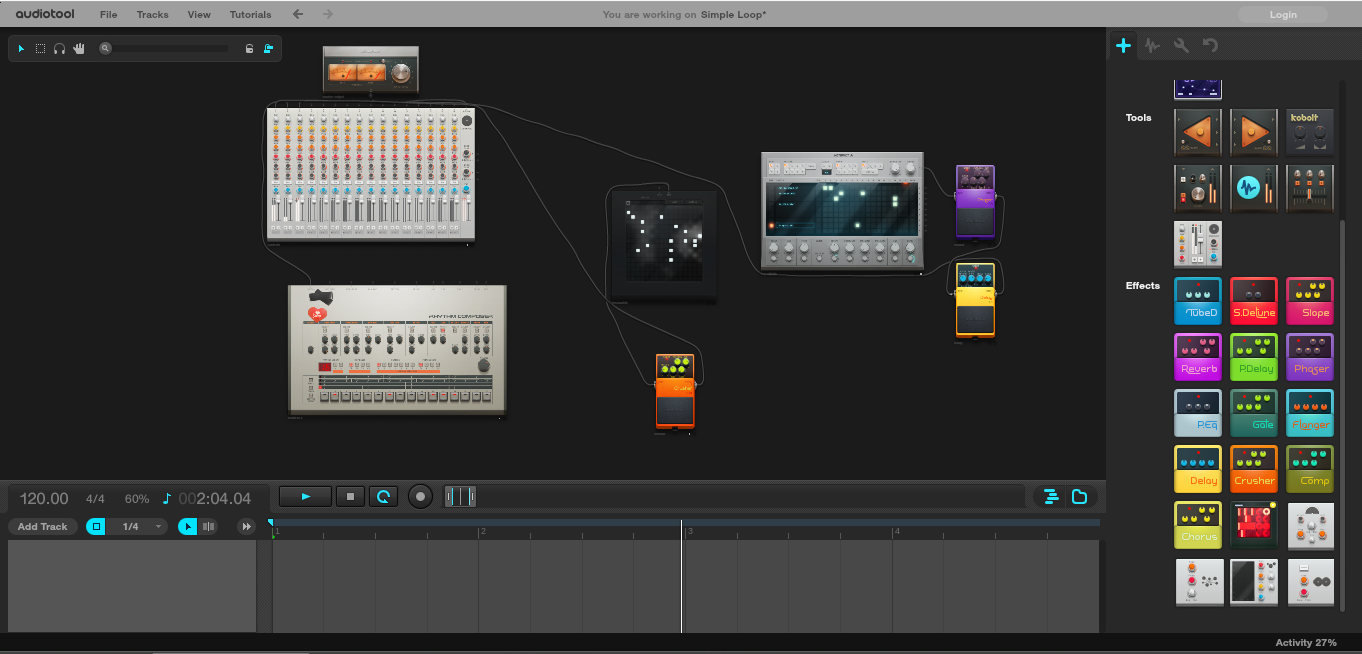 Audiotool in Action. Screenshot