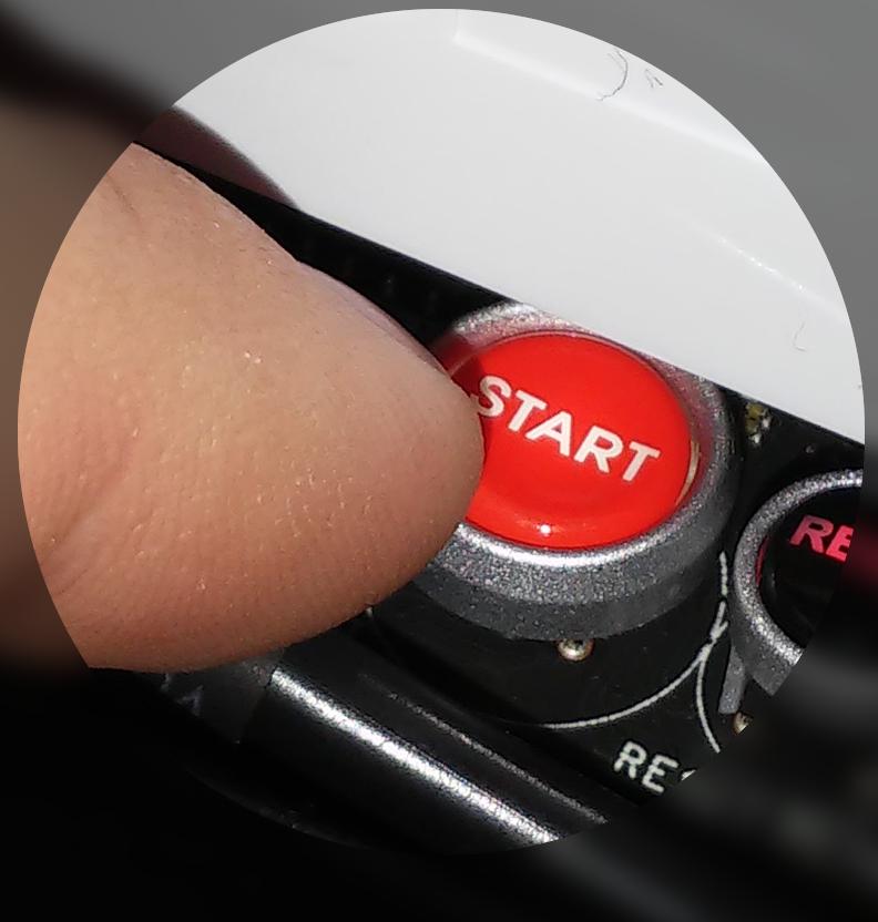 Pressing a start button